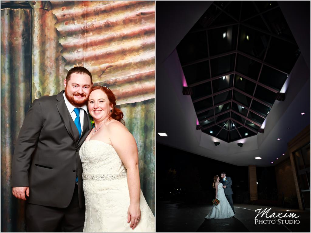 Cincinnati Marriott West Chester Bride groom wedding photo booth