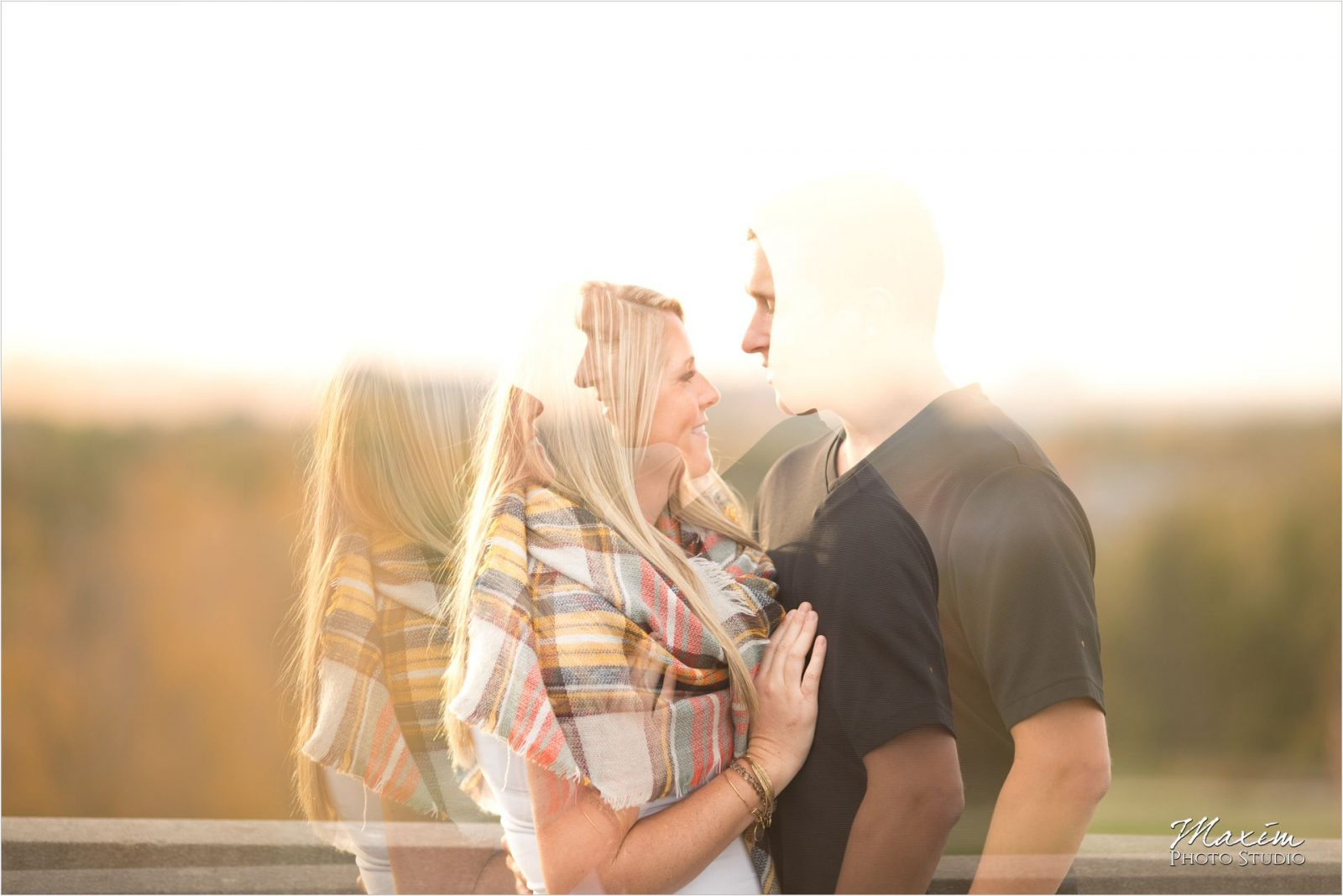 Ault Park Cincinnati Sunset Engagement