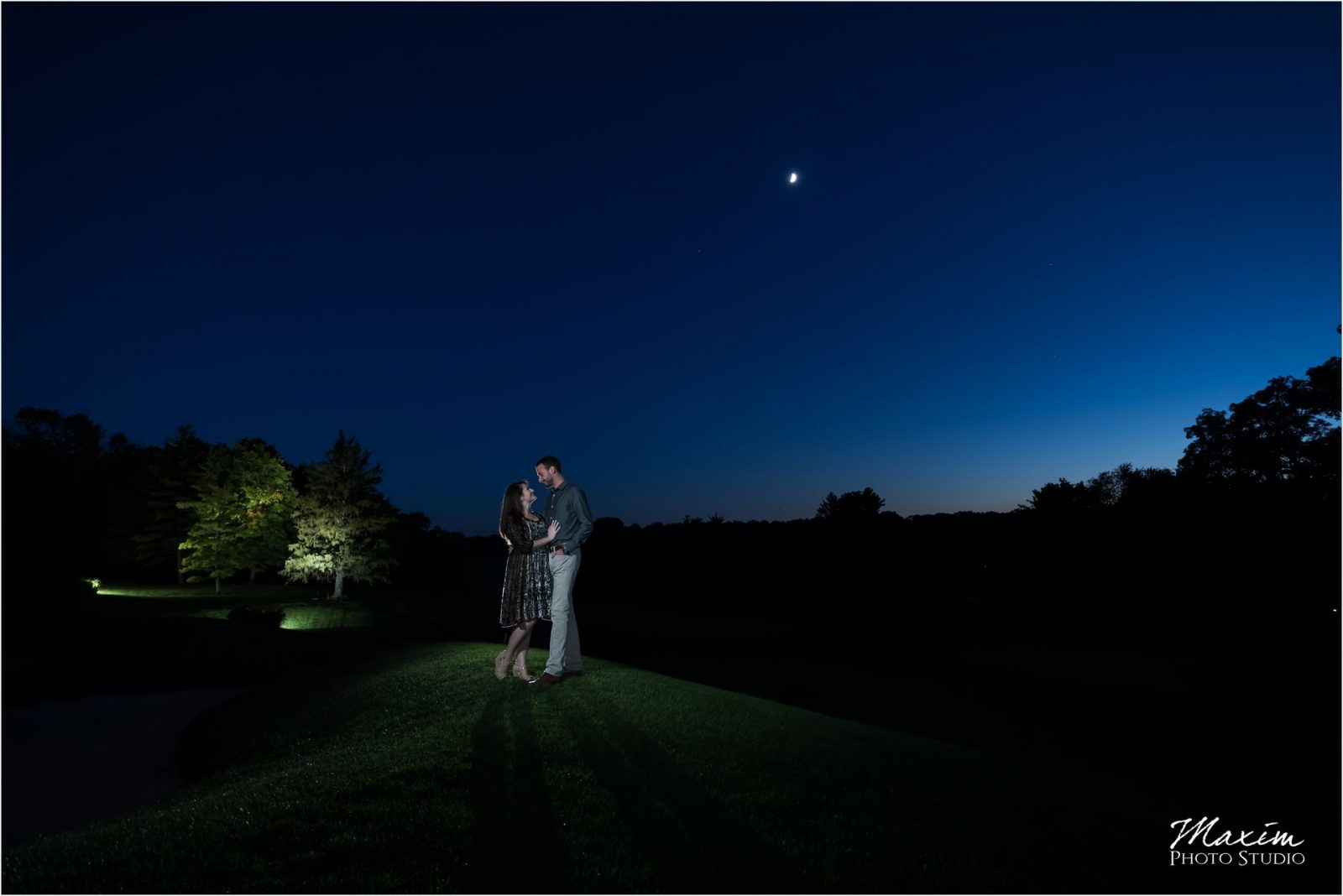Dayton Country Club Engagement Photography