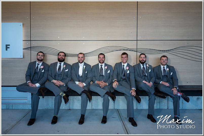 New Riff Brewery Wedding groomsmen