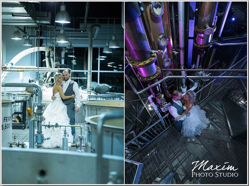 New Riff Brewery Wedding Reception portraits