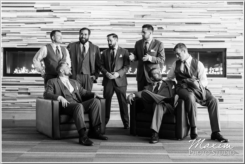 Crossroads church wedding groomsmen