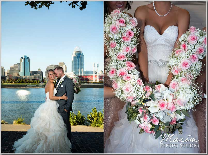 Cincinnati Skyline Bride Groom picture