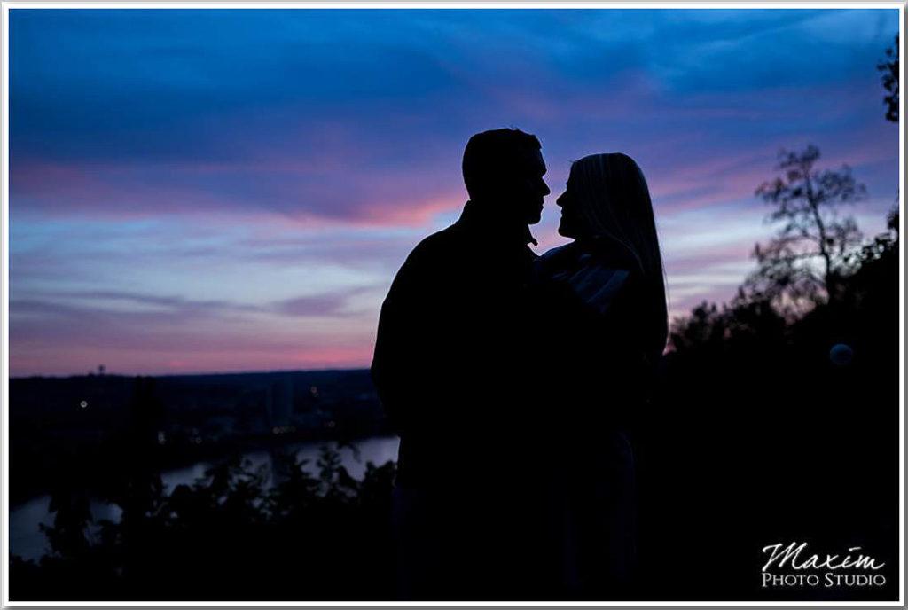 Eden Park sunset Big Mac Bridge engagement photo jj 01