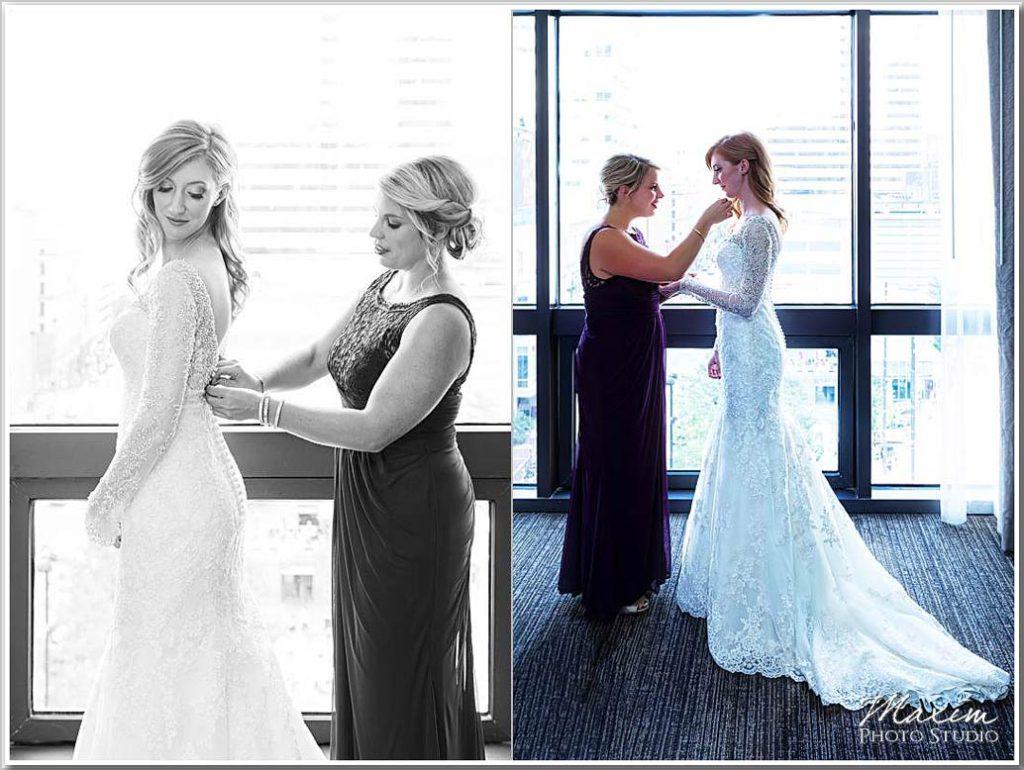 Cincinnati Art Museum wedding photography brides preparations