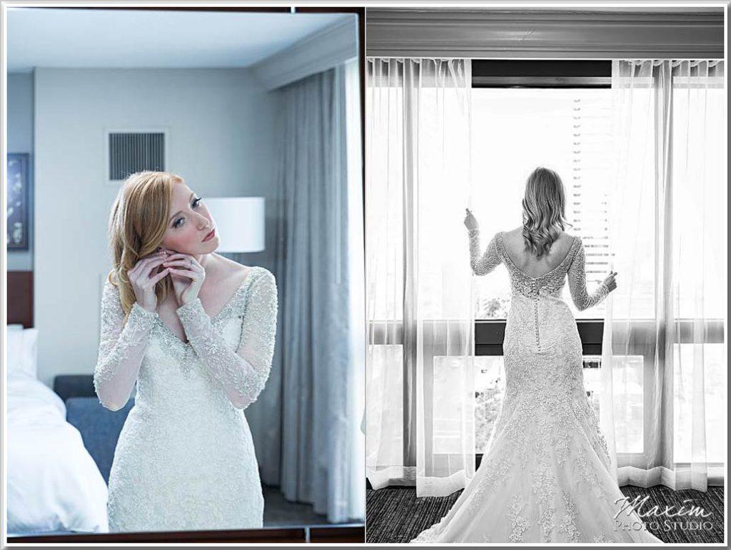 Cincinnati Art Museum wedding photography bride dress