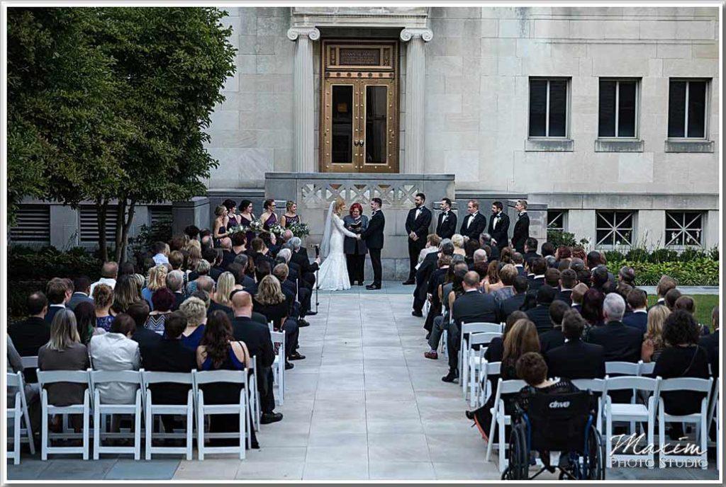 Cincinnati Art Museum Ceremony Wedding Phootography