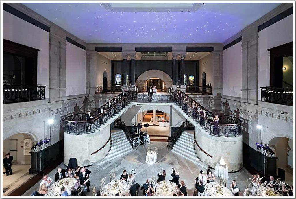 Art Museum Cincinnati Wedding Reception Photography