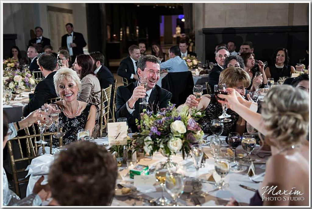Art Museum Cincinnati Wedding Reception toast