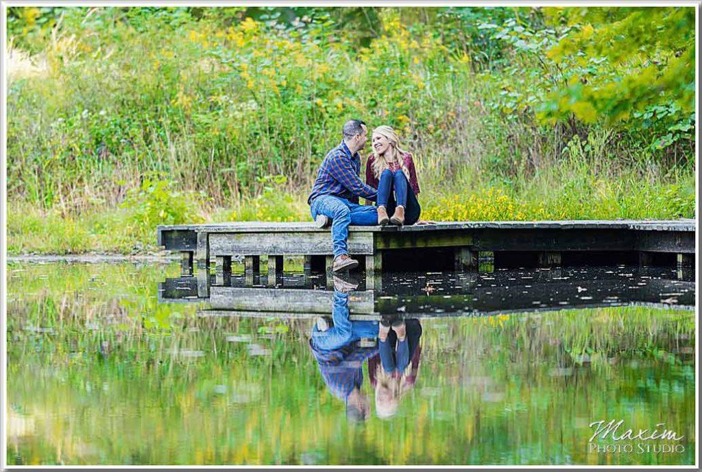 Cincinnati Nature Center lake dock picture