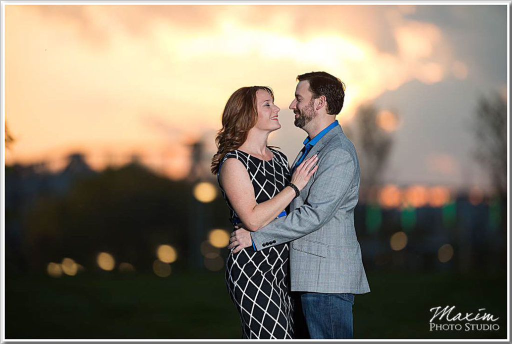 Cincinnati skyline sunset portraits