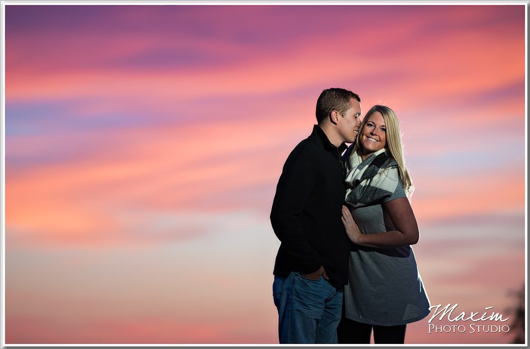 Eden Park Cincinnati sunset Engagement photography