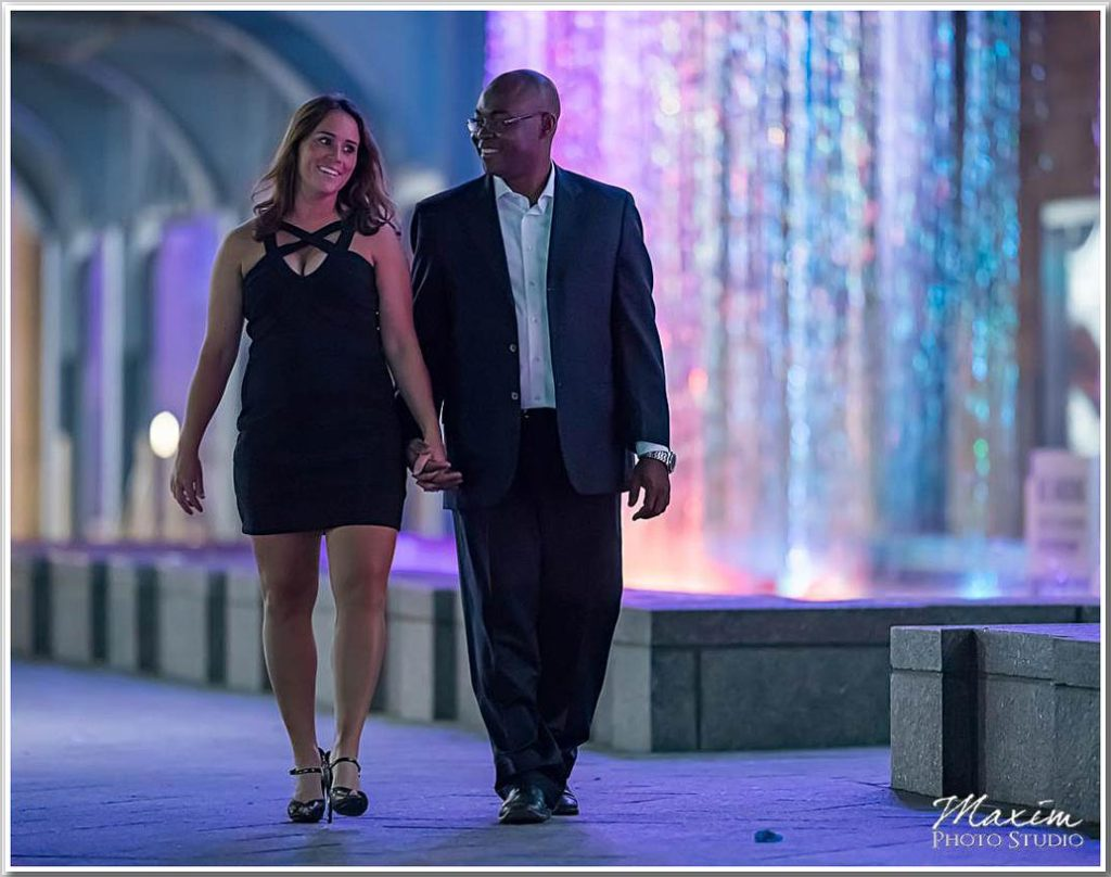 Drees Pavilion Cincinnati Nighttime engagement