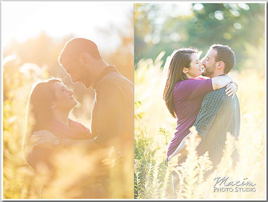 Wegerzyn Gardens sunset engagement