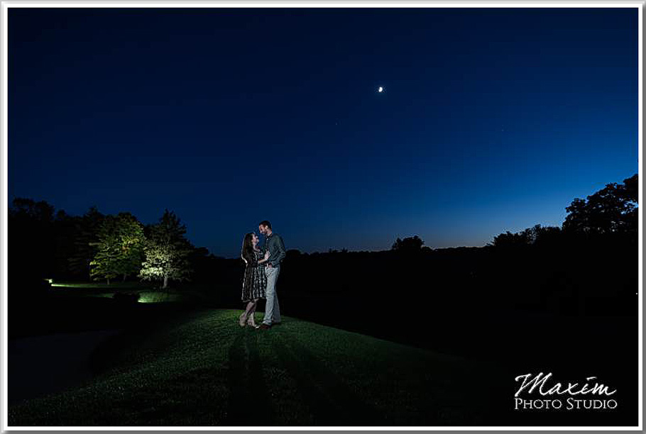 Dayton Country Club sunset engagement