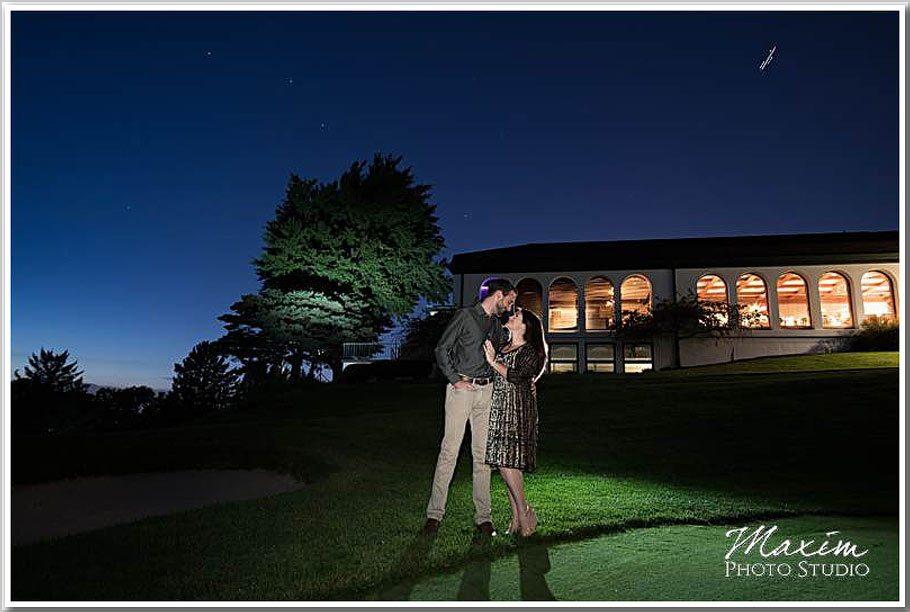 Dayton Country Club sunset engagement