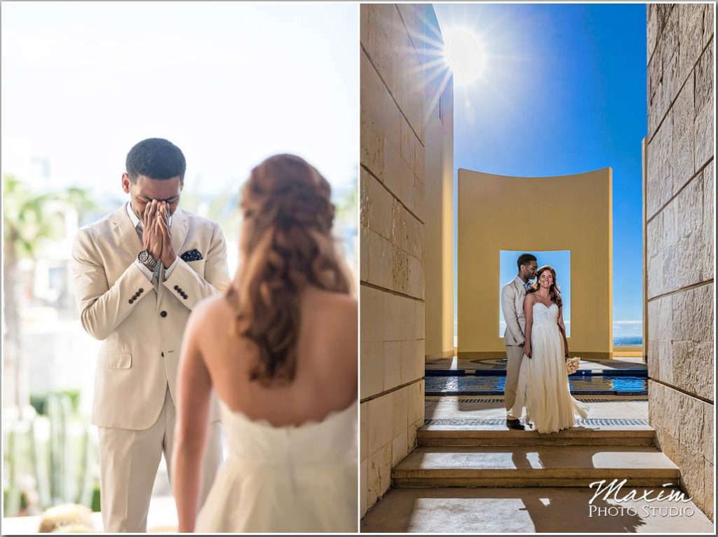 Window to the pacific Mexico wedding