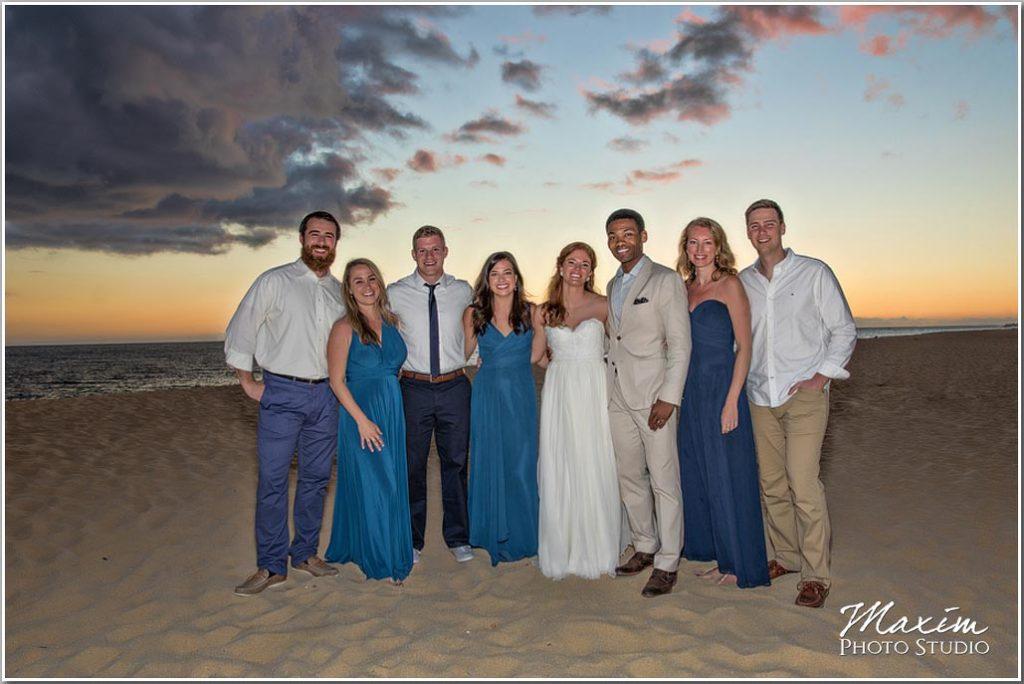 Mexico sunset wedding photography