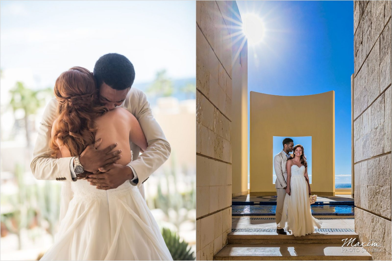 Pueblo Bonito Cabo Mexico Destination Wedding first look