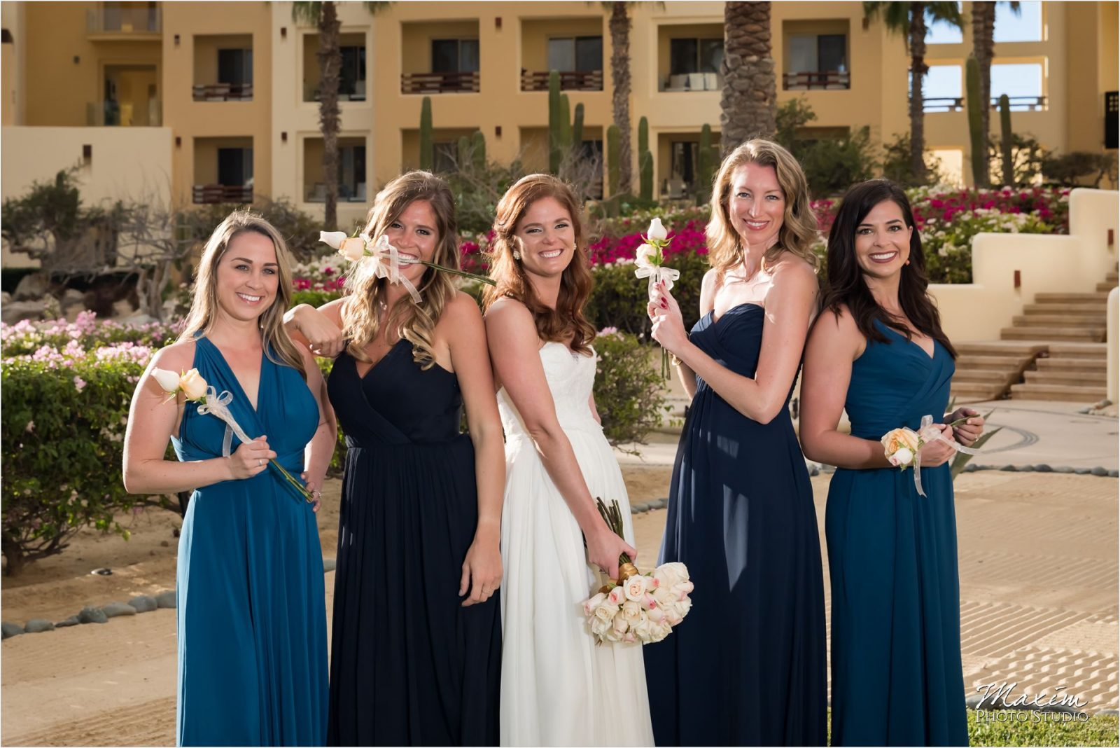 Pueblo Bonito Cabo Mexico Destination Wedding Portraits Bridesmaids