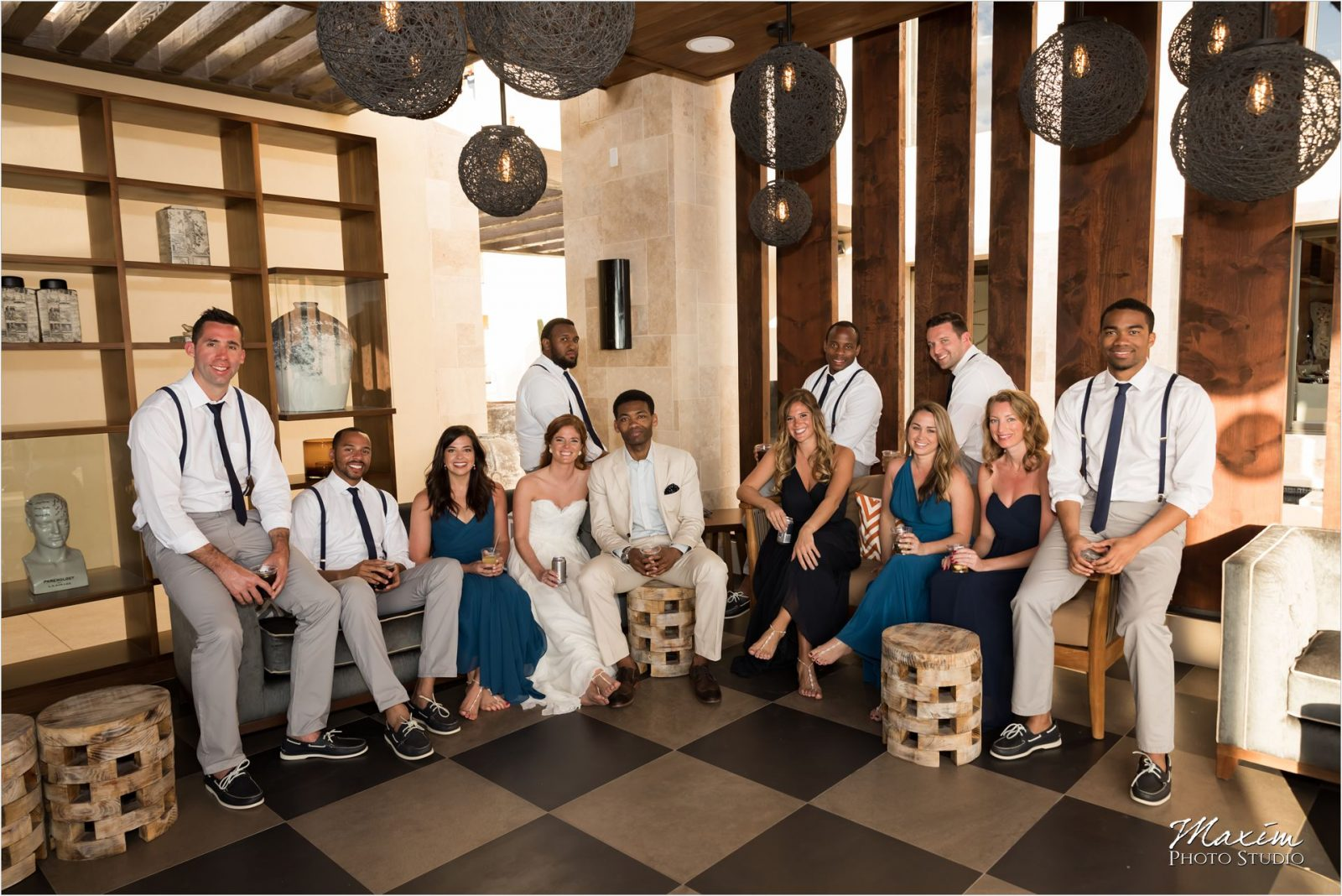 Pueblo Bonito Cabo Mexico Destination Wedding Portraits Bridal Party