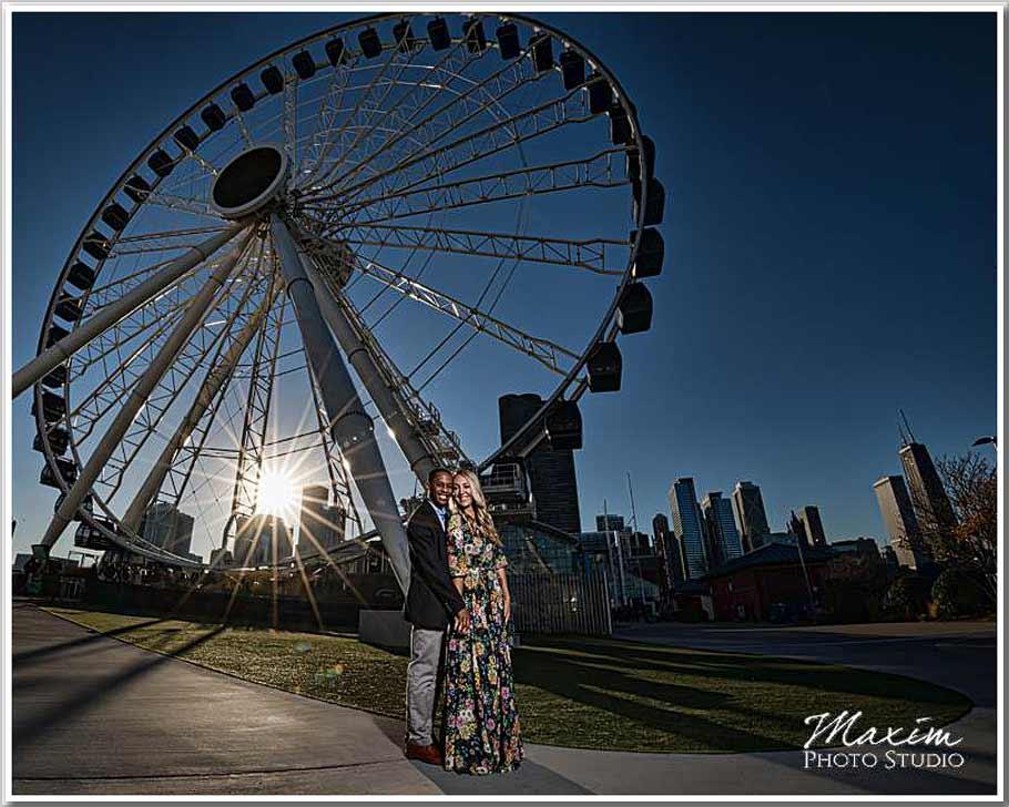 Centennial wheel Chicago engagement