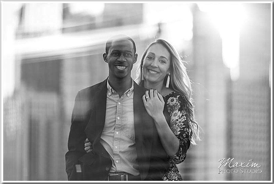 Miracle Mile Chicago engagement