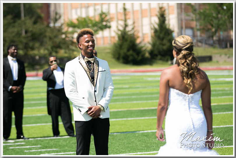NFL wedding first look