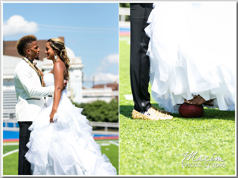 NFL wedding bride pictures