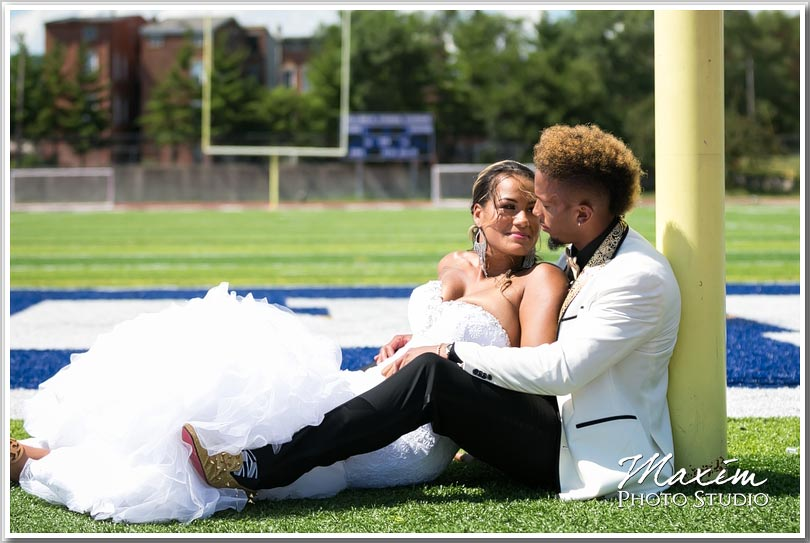 NFL wedding bride groom pictures