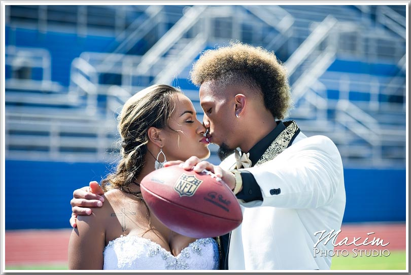 NFL wedding player Pavilion wedding pictures