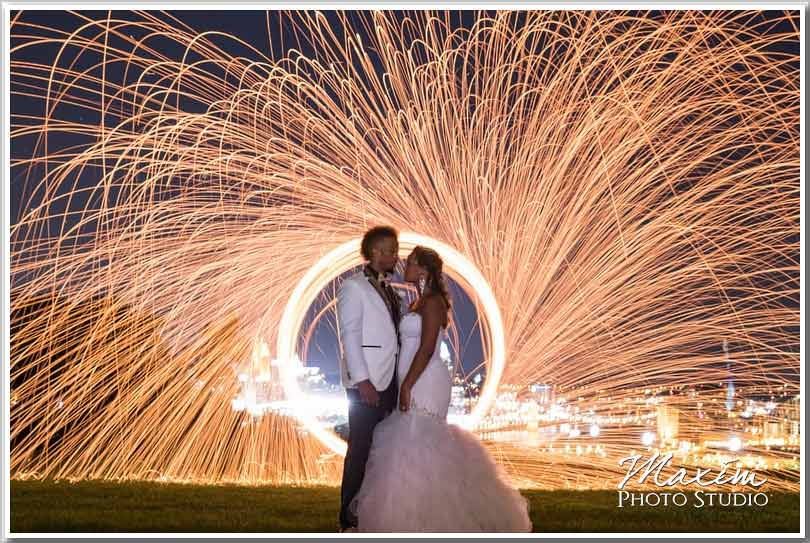Drees Pavilion sparklers wedding
