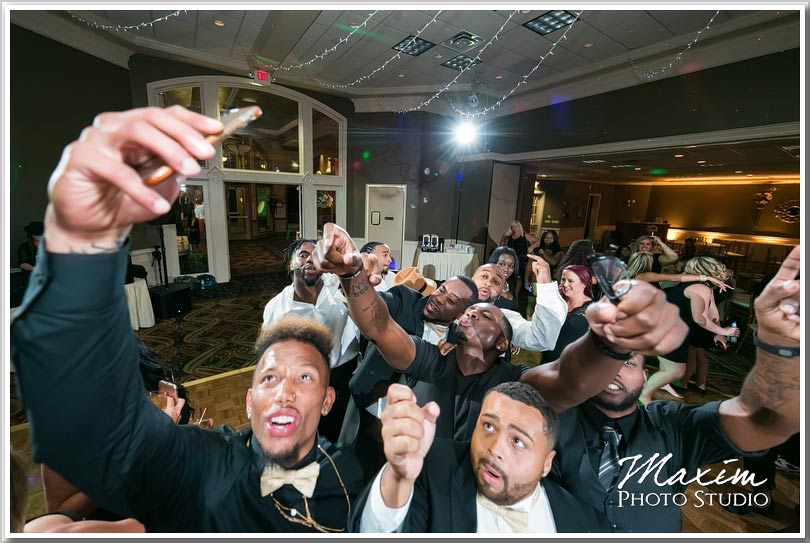 Drees Pavilion wedding reception selfie