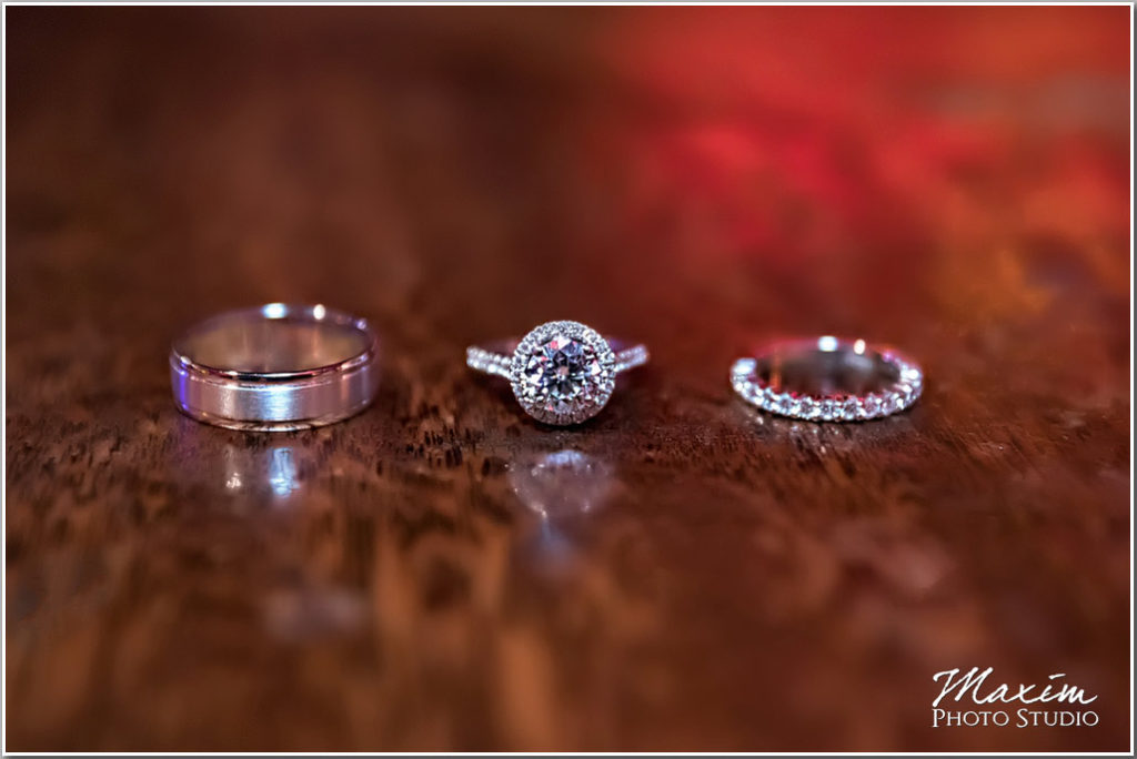 Carlo and Johnny Restaurant Wedding picture rings