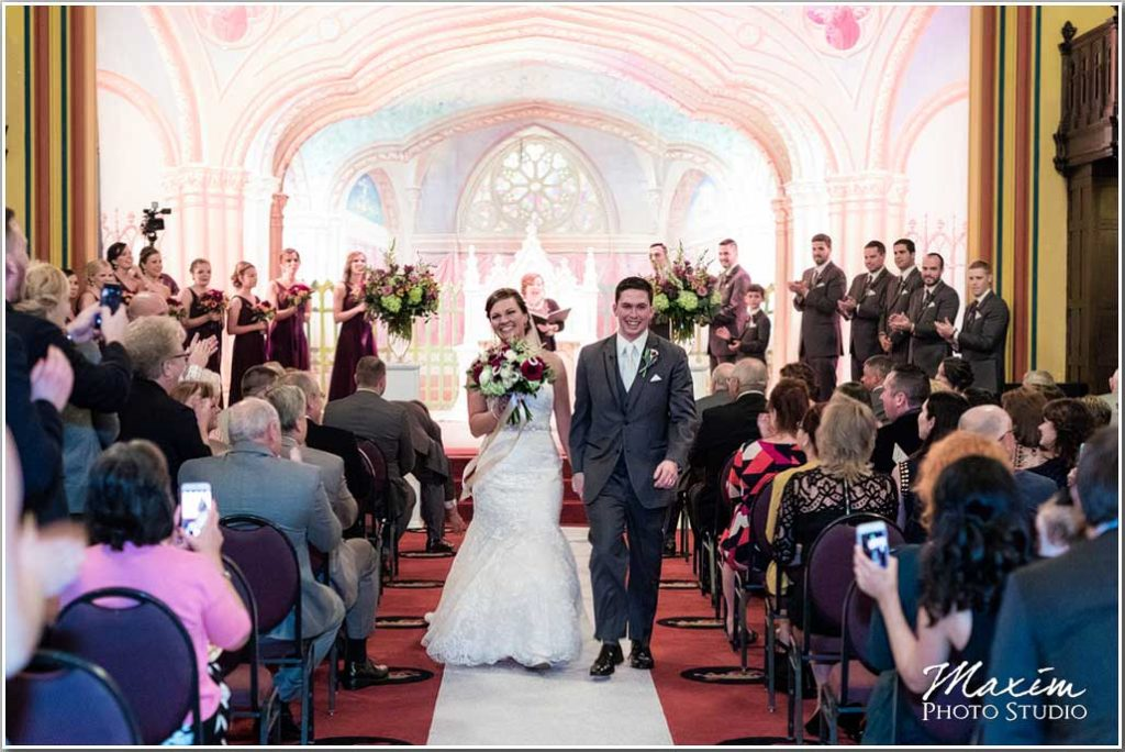 Wedding Ceremony pictures Dayton Masonic Temple