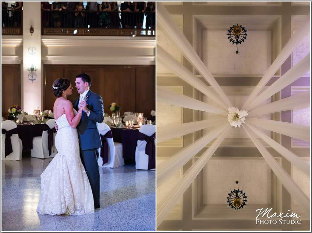 First Dance Masonic Center wedding Dayton Ohio