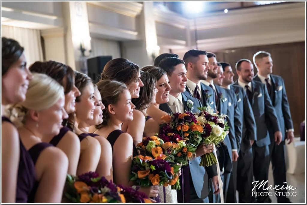 Dayton Masonic Center Wedding reception bride