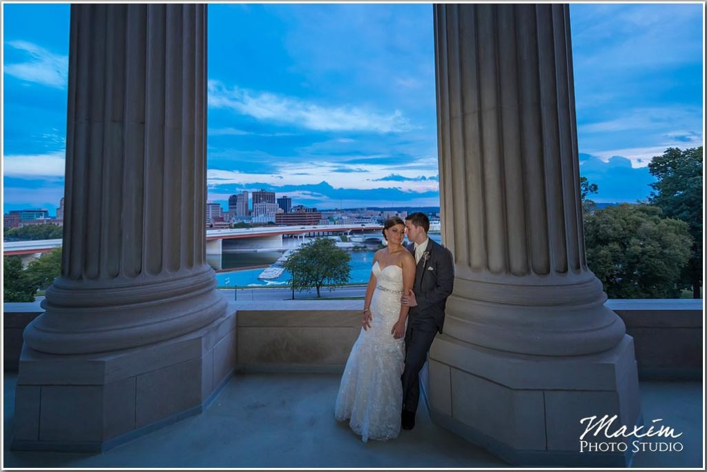 Dayton Masonic Center Wedding bride groom pictures
