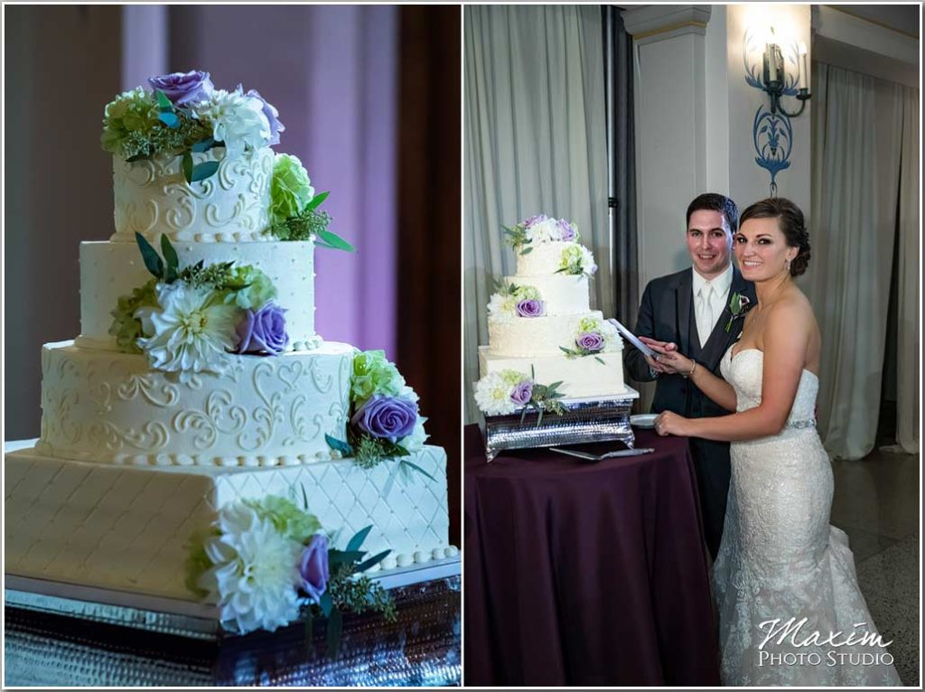 The Cakery Wedding cake Dayton Masonic Center