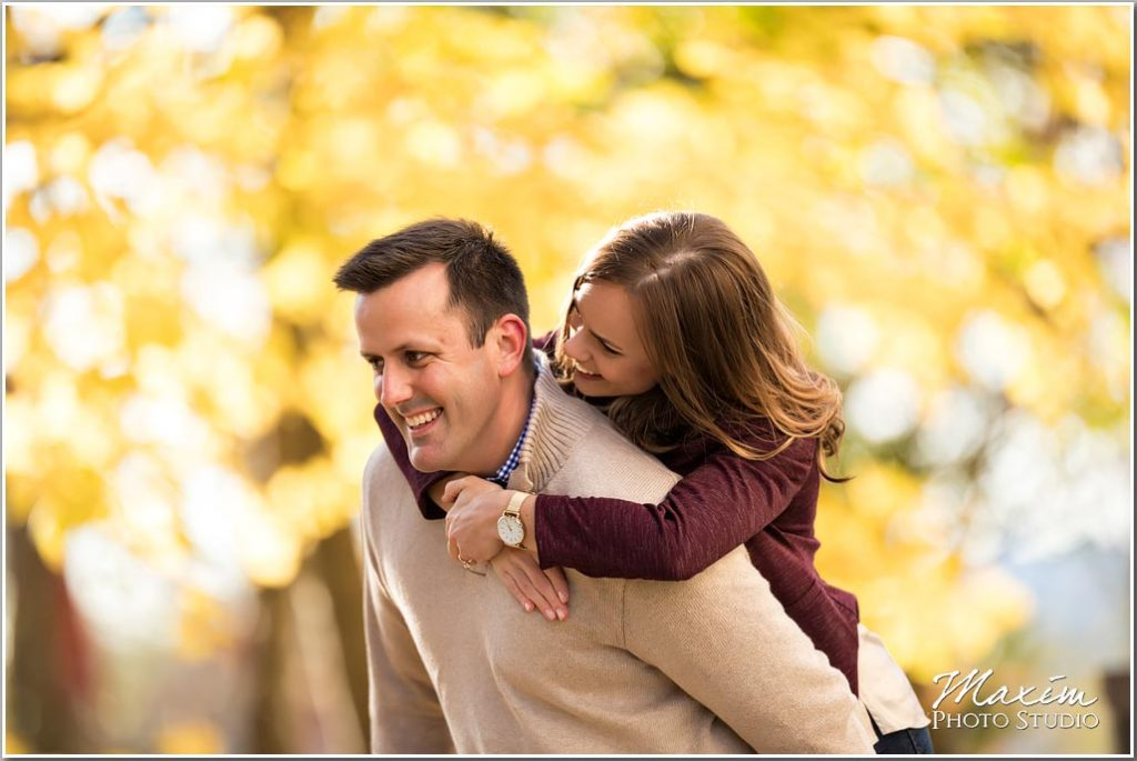 Cincinnati Art Museum fall foliage engagement
