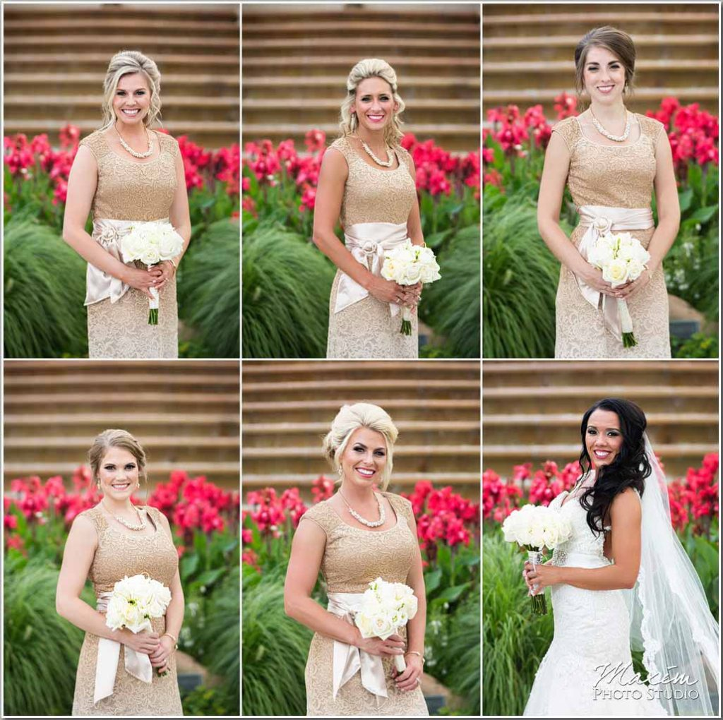 Ault Park Cincinnati Bridesmaids flowers picture