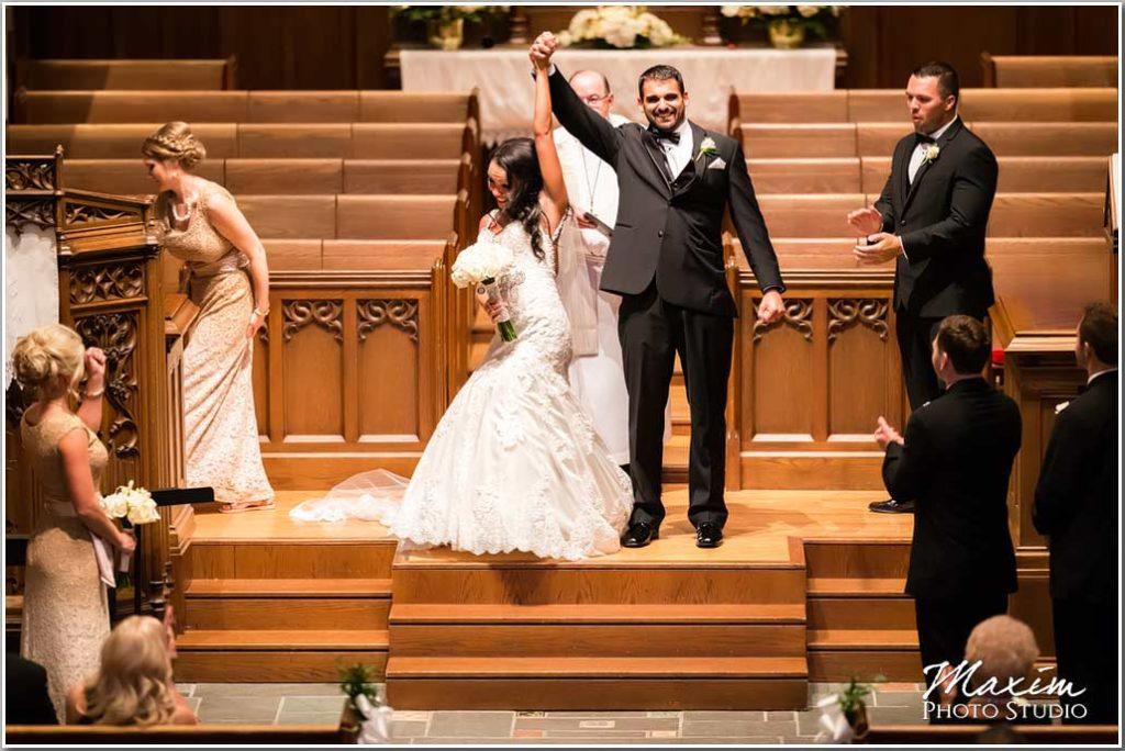 Cincinnati wedding ceremony bride groom