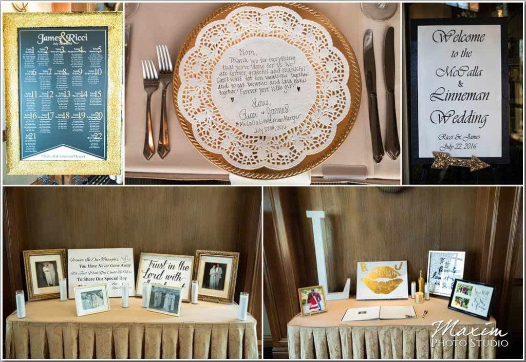 Drees Pavilion Wedding reception center pieces