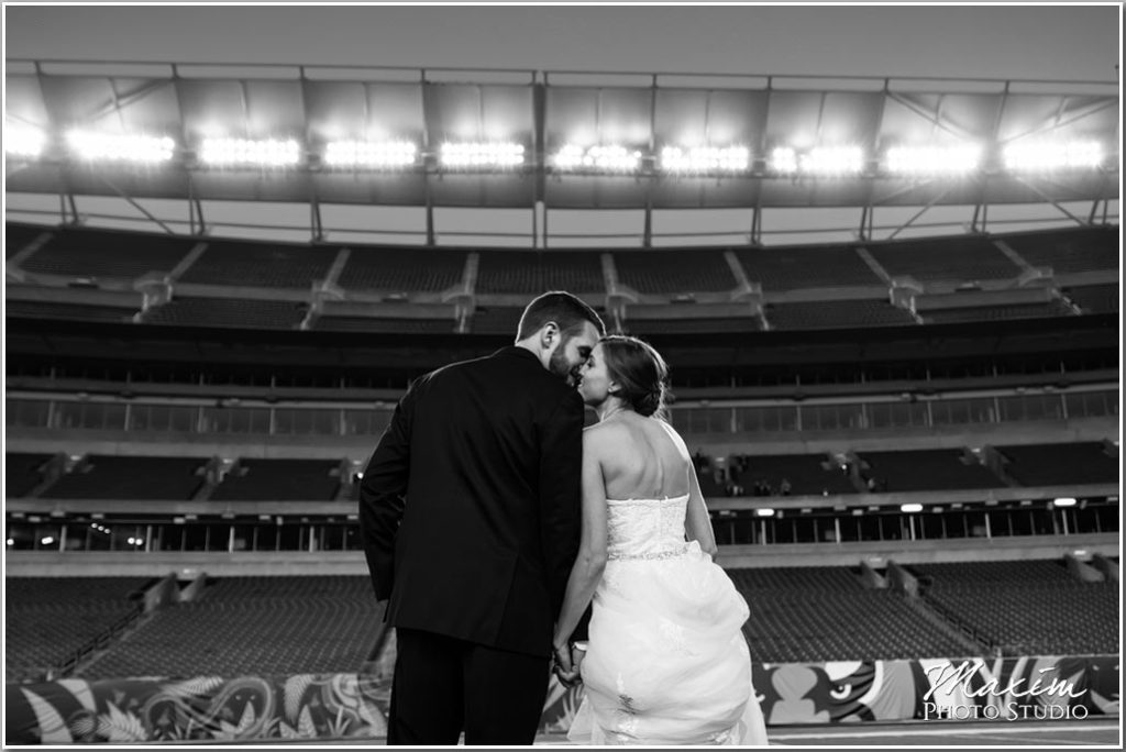 Paul Brown Stadium Bride groom picture