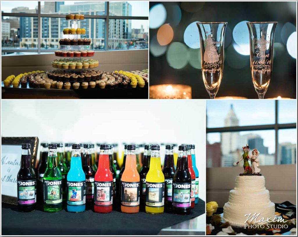 Paul Brown Stadium Wedding Reception cake picture