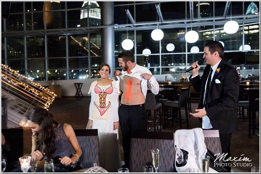 Paul Brown Stadium Cincinnati wedding reception toast