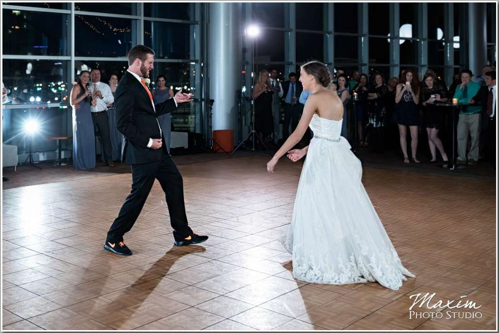 Paul Brown Stadium Wedding Reception dance