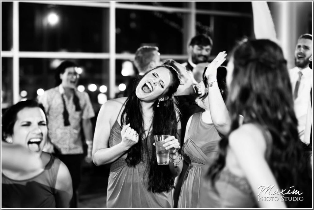 Paul Brown Stadium Cincinnati Wedding reception fun
