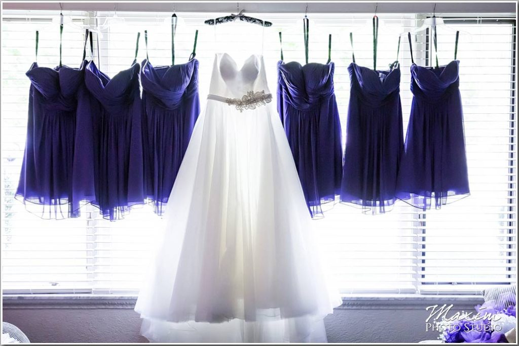 Wedding dress bridesmaids dresses