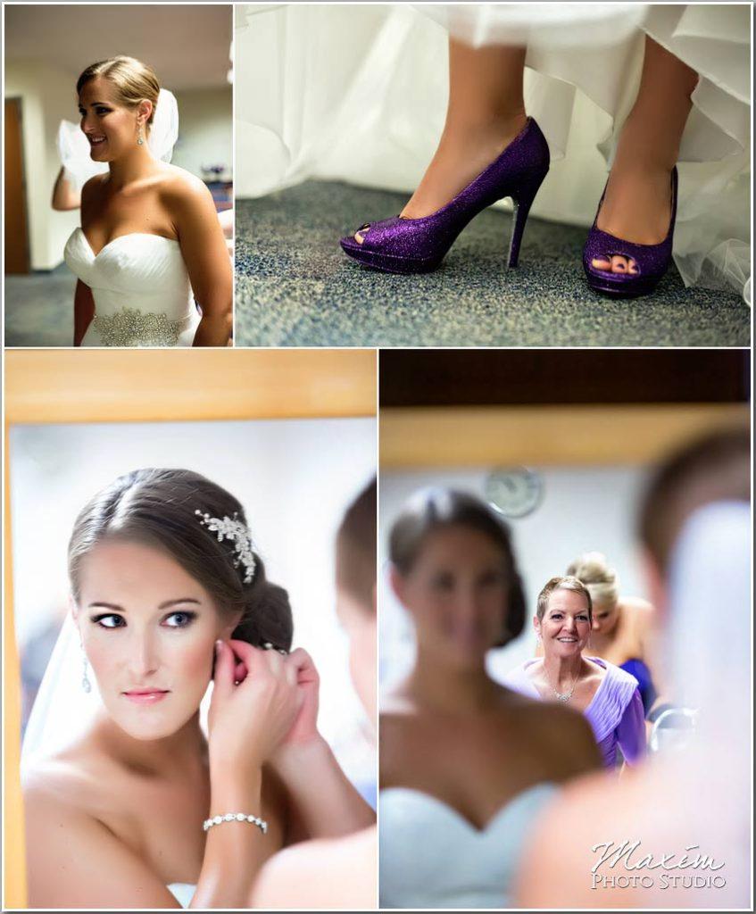 Bride Preparations wedding shoes earings
